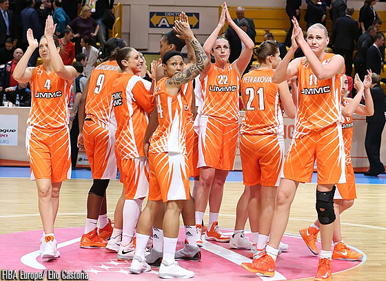 UMMC Ekaterinburg celebrating their win